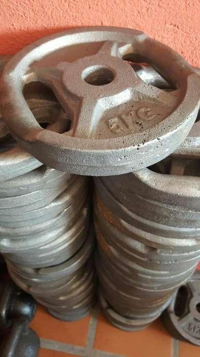 Discos Con Agarre Fundición 5 kg 10 kg 20 kg