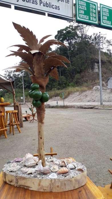 Palma Artesanal (madera,mate,conchas)