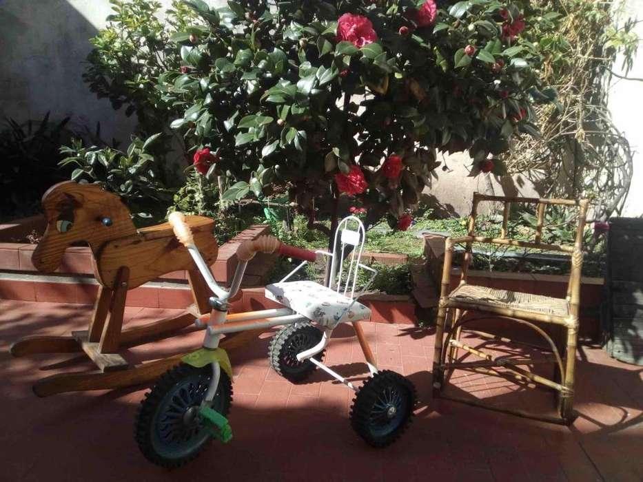 Dia del Niño. Triciclo, Sillita y Caballito en excelente estado.