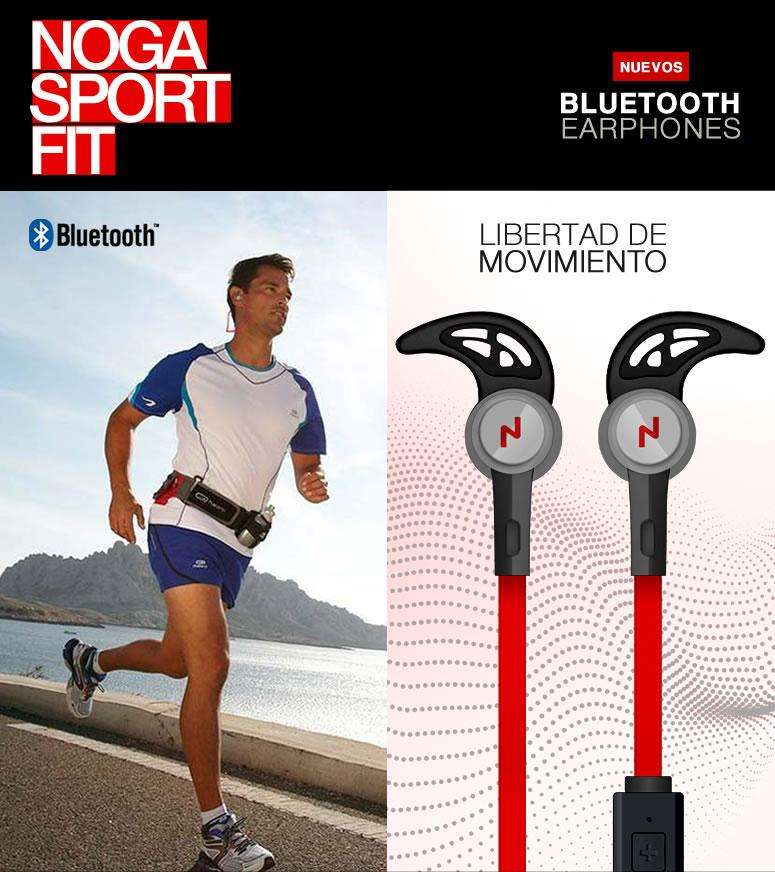 Auriculares Noga Bluetooth Deportivos NG BT323 In Ear Manos Libres
