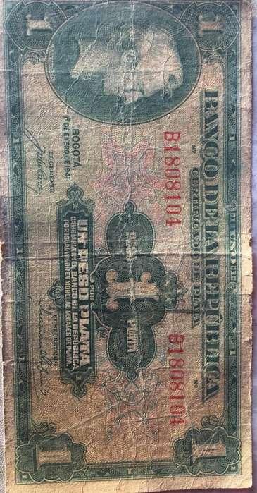 Vendo Billete 1 Peso Plata 1941
