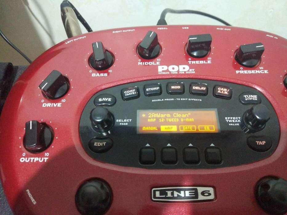 Procesador Line 6 Pod Xt con Su Footswic