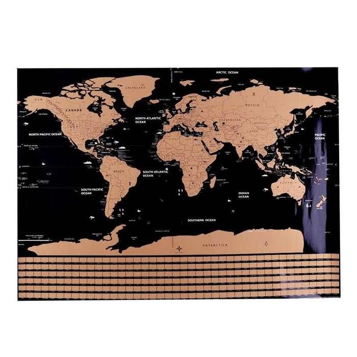Mapa del mundo para marcar ciudades visitadas