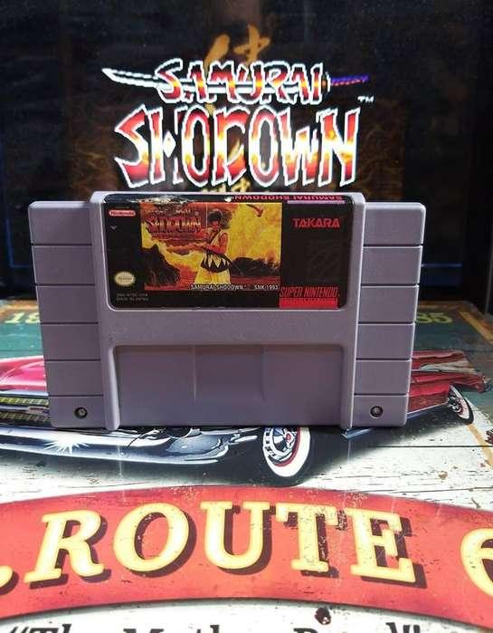 Samurai Shodown Para Consola Super Nintendo Snes Usado