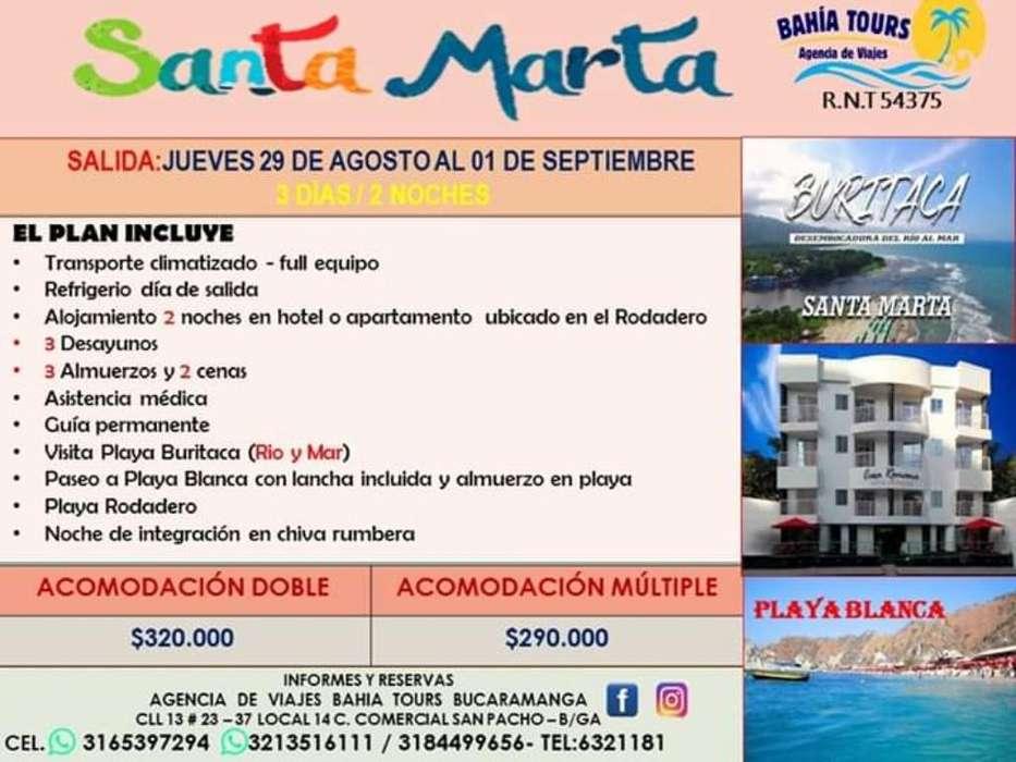 Tour Santa Marya O Cartagena Agosto 29