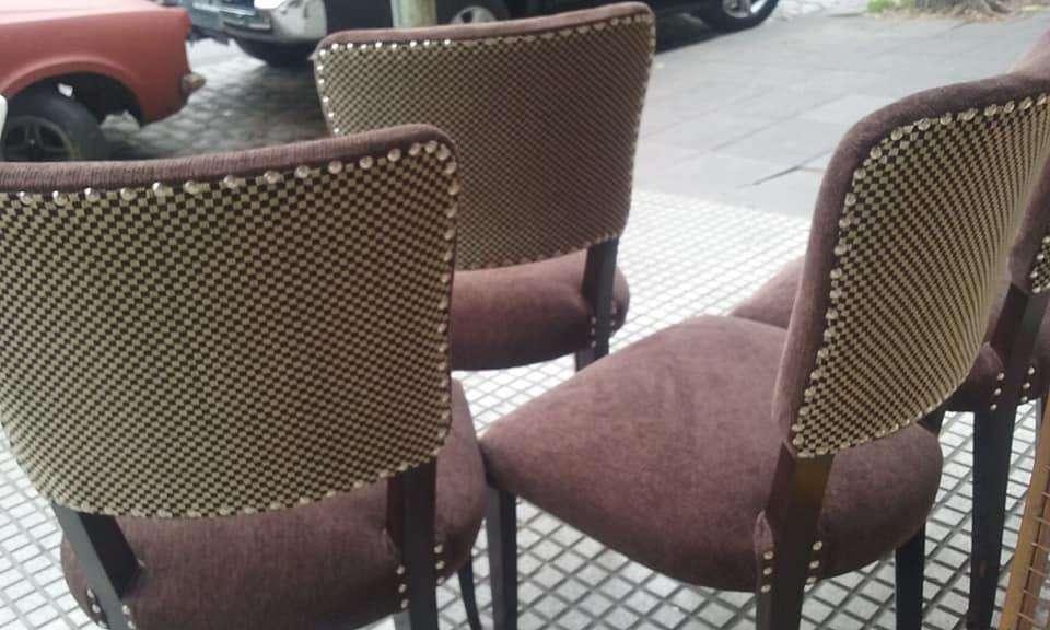 Vendo <strong>sillas</strong> tapizadas a nuevo en chenill chocolate