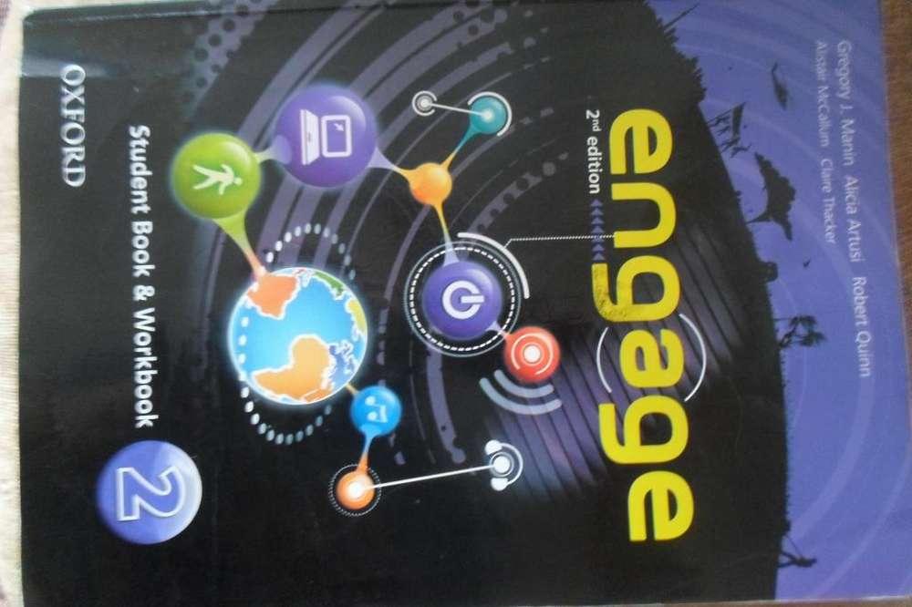 Libro de Ingles level 2 usado. Engage.