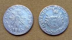 Moneda de 1 de real de plata Pcia. de Córdoba, Argentina 1848