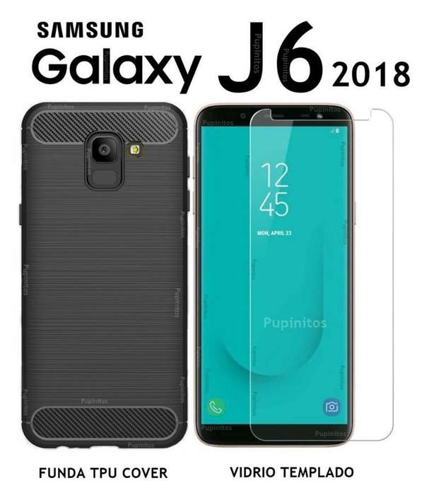 Funda Elegante Vidrio Templado Samsung J6 2018 Rosario