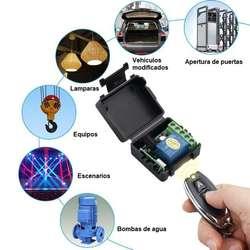 Control Rf 433 Mhz Programable Con Relés Receptor Transmisor