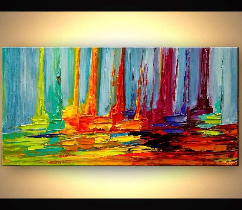 cuadro de veleros abstractos y modernos