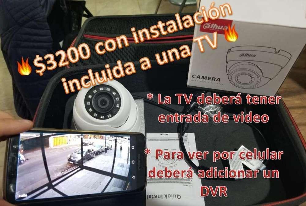 Camara de seguridad e instalacion para ver en la tv