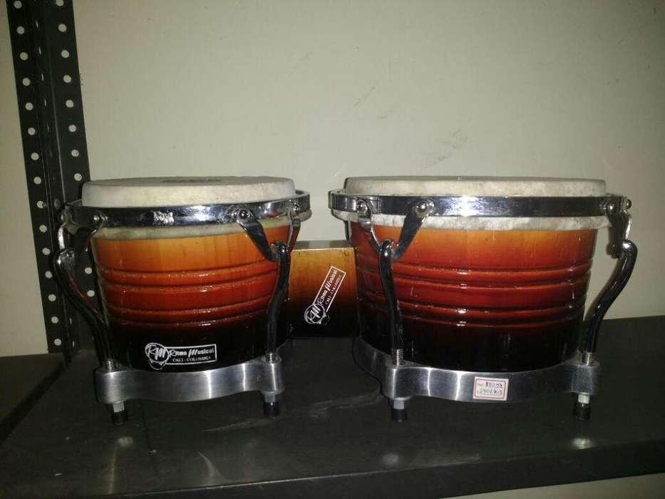 Bongo Rm Percusion En Madera