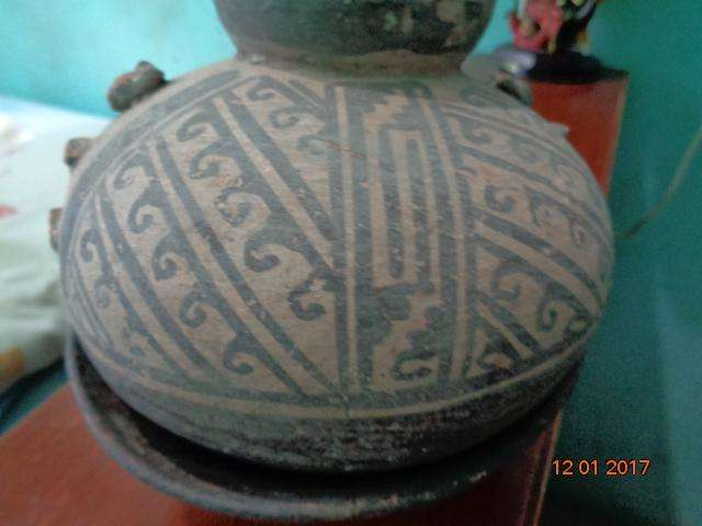 vasija y plato original recuperada en el año 1965