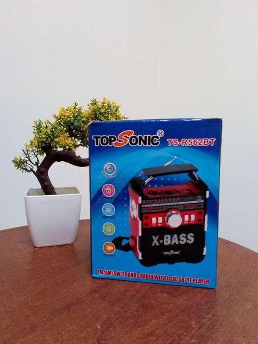 PARLANTE TOPSONIC TSR562BT RADIO 3 BANDAS AMFMSW USB