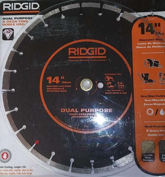 Cuchilla Ridgid 356 Mm Nuevo de Diamant