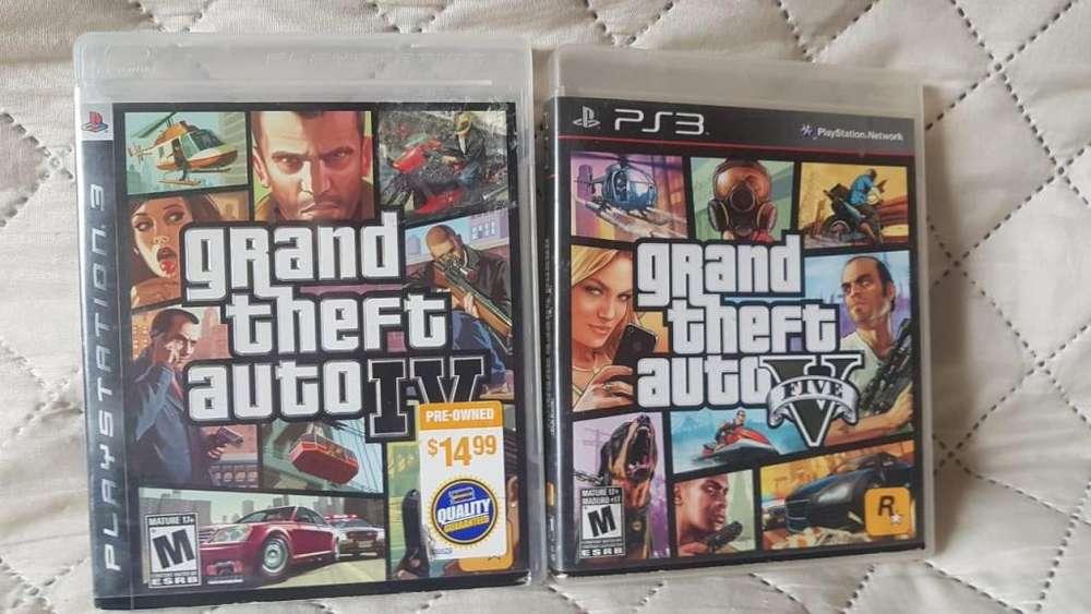 Ps3 Playstation 3 Colección GTA V GTA 4 Oferta del Día