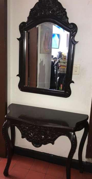 Consola con Espejo en Vidrio