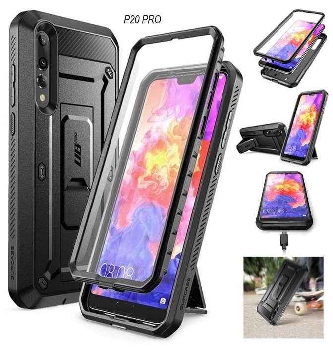 SupCase para Huawei P30 Pro, P20 Pro, Mate 20 Pro, P30 Normal - Súper Protector c/ Parante, Mica y Gancho