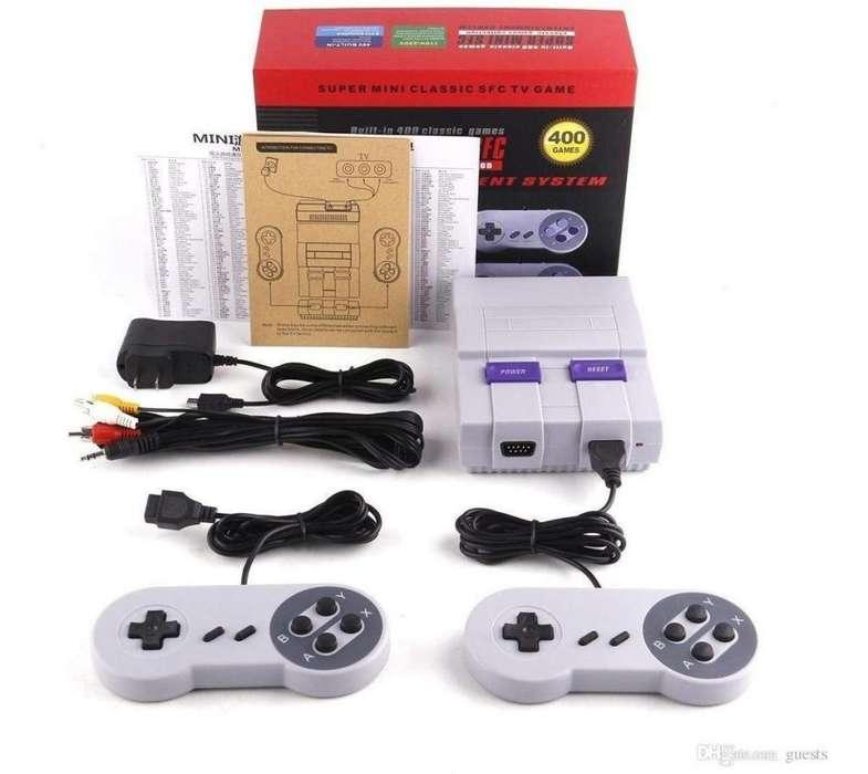 consola mini súper nintendo con 420 juegos clásicos incluidos precio oferta 24