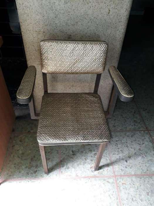 <strong>silla</strong> Antigua De Madera Con Apoya Brazo