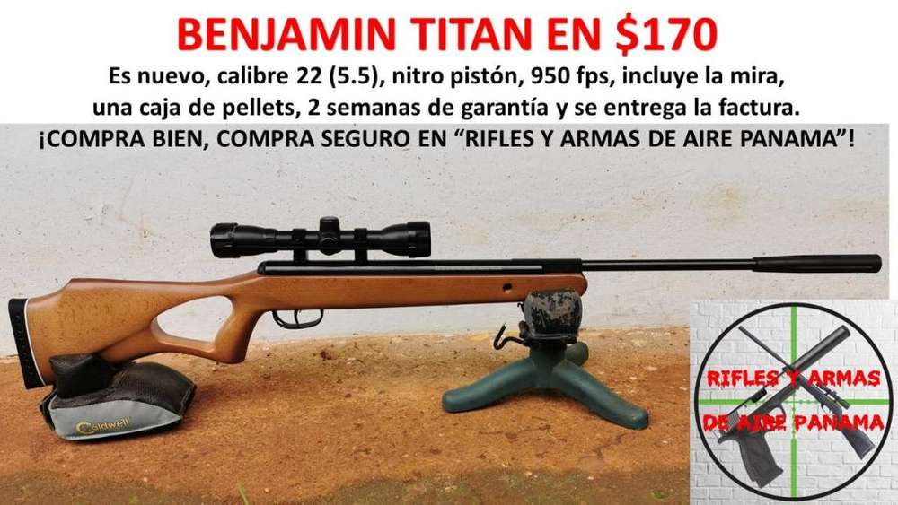Rifle de pellets calibre 22 a 170