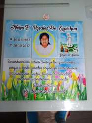 Lápida Mayolica Difunto Personalizada