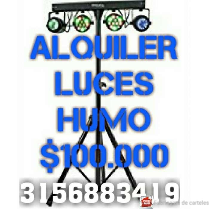 Alquiler Luces Audio Rítmicas Humo Neón