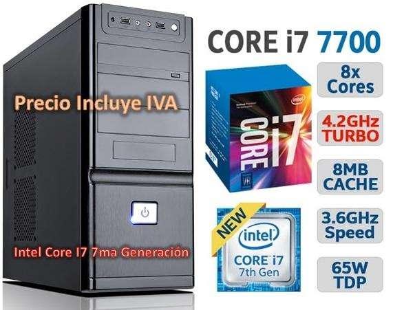 Cpu Intel Core I77700 7ma Generación 2tb 4gb Computador PRECIO INCLUYE IVA ENTREGA A DOMICILIO