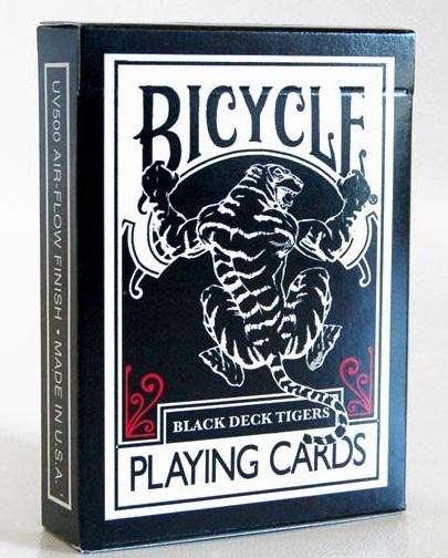 Baraja de Cartas Negras Bicycle Black Tiger Para Magia y Cardistry Nuevas y Originales