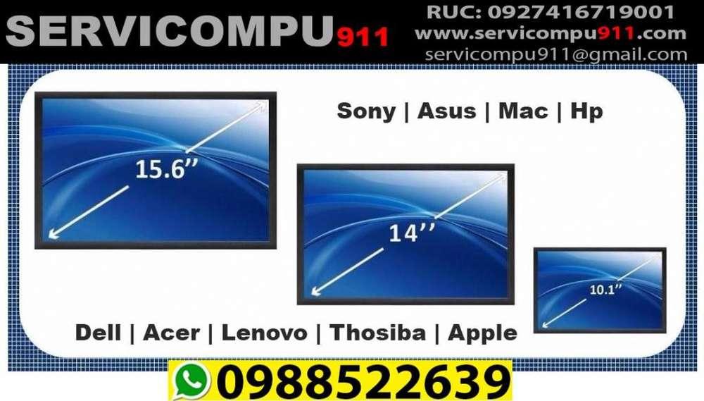 Venta e Instalación de Pantalla o Display de Laptop y Mac Nuevas