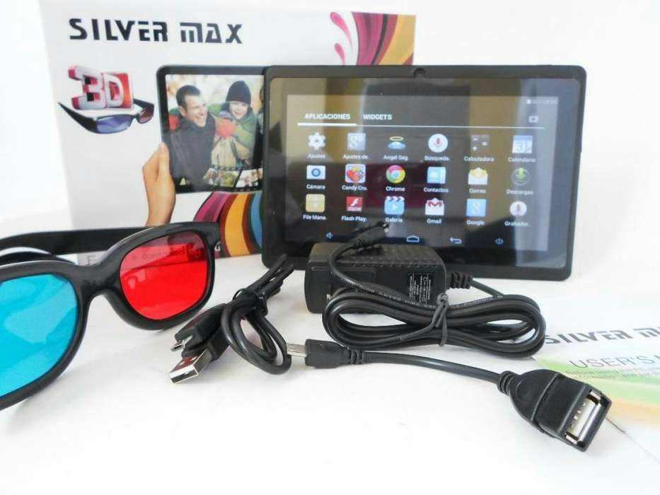 Tablet 7 Silvermax QUAD Core Gafas 3d Wifi Camara Android ENVIO GRATIS
