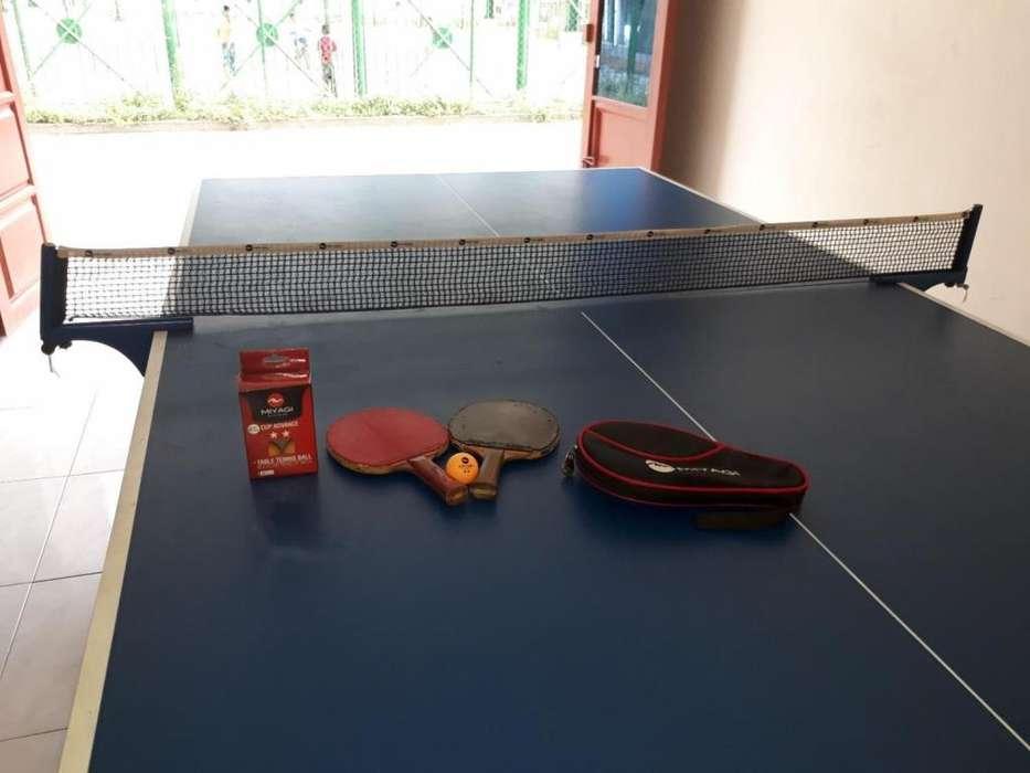 Mesa de Ping Pong con accesorios