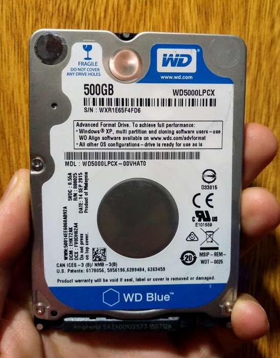 Disco HDD 500Gb WD Blue 2,5