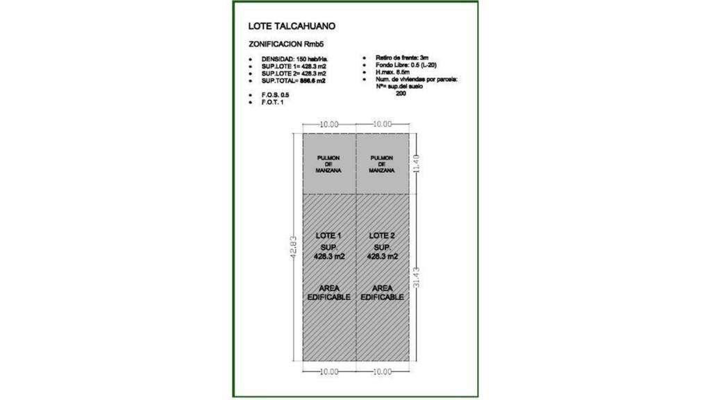 Talcahuano  900 - UD 700.000 - Terreno en Venta