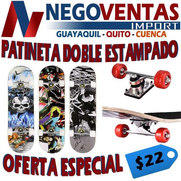 PATINETA DOBLE ESTAMPADO CON PROTECCIONES INTEGRADO