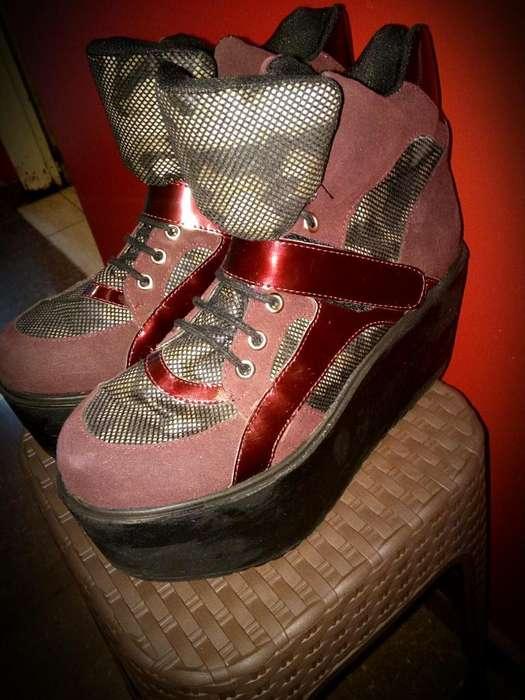 Zapatillas con Plataforma Talle 38