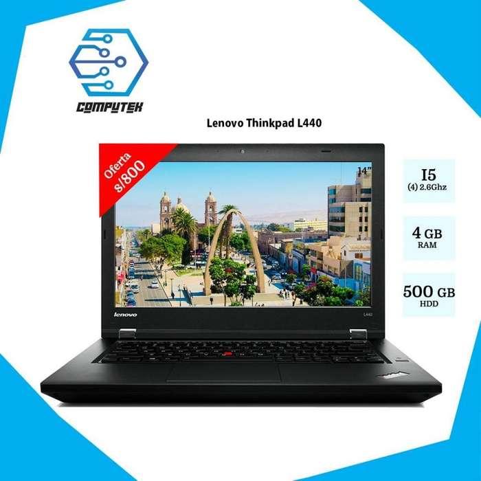 LAPTOP LENOVO L440THINKPAD - REFURBISHED - CORE i5 4TA GEN, RAM 4GB , HDD 500, VIDEO 2GB, LED 14