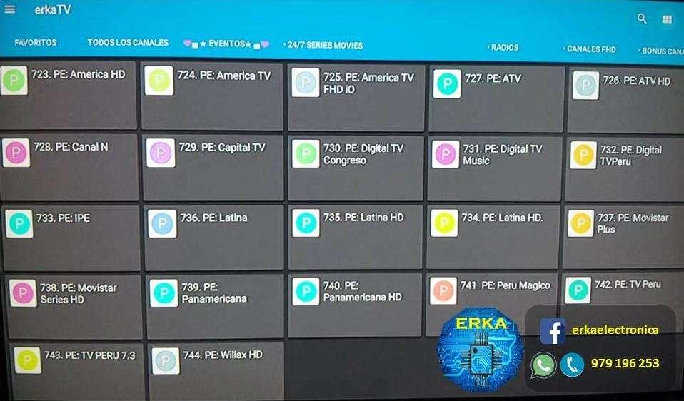 Vea IPTV TV TELEVISION por Internet ERKAELECTRONICA