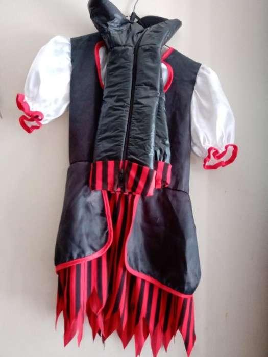 Disfraz de Pirata Niña Talla 6