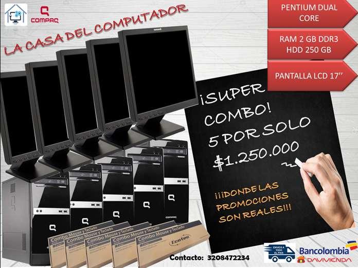 COMBO 5 EQUIPOS COMPAQ CORPORATIVOS