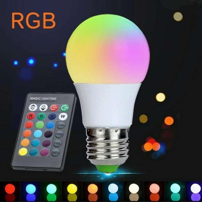 Foco Luz Blanca con Control Remoto Rgb