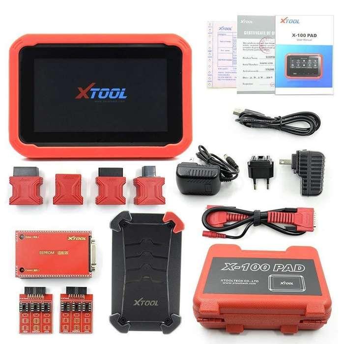 scanner automotriz x100 pad xtool programador de llaves y tableros profesional