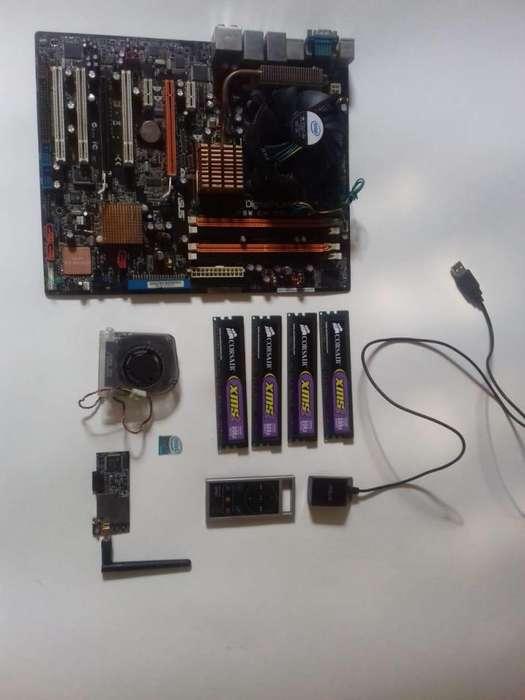 PROCESADOR CORE 2 QUAD BOARD ASUS P5W DH DELUXE 8 GB RAM DDR2