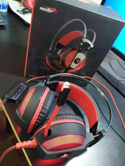 Auricular gamer Sentey Azero cobector usb PC /PS4 /PS3 /notebook (no permuto)