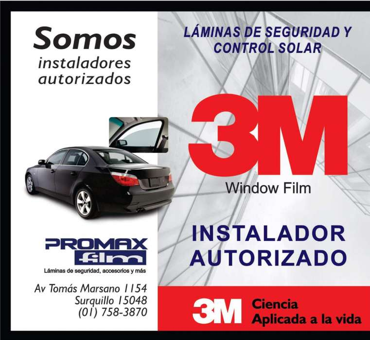 Lamina y Polarizado Americano 3M