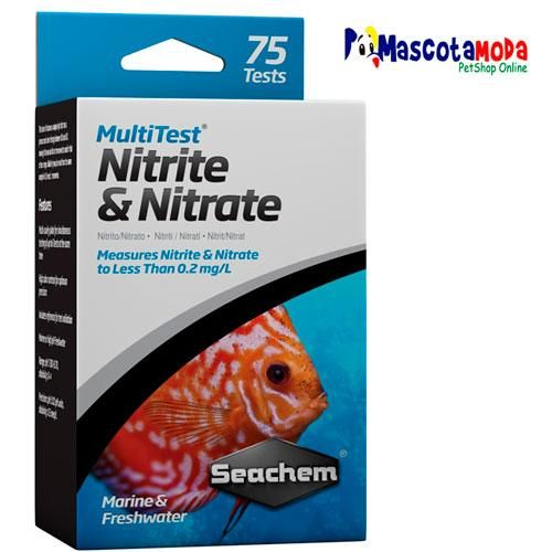 Test de nitritos y nitratos seachem para acuarios y peceras