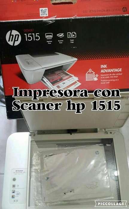 impresora hp 1515 con scaner para recargar cartuchos venta cambio