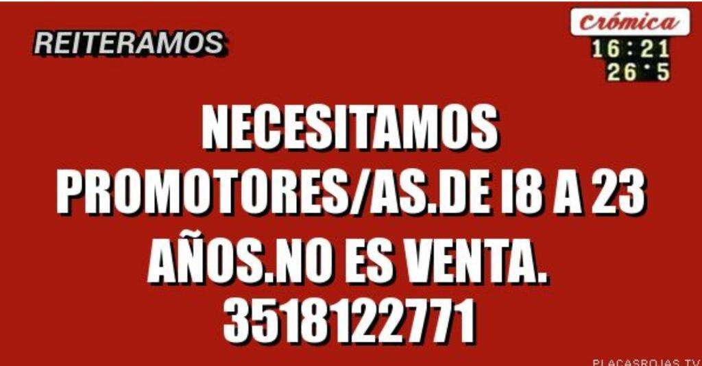 Se Necesits Promotores/ss