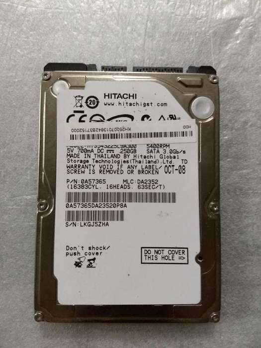 Disco Notebook 250gb
